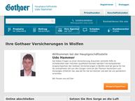 Website von Gothaer Versicherungen in Wolfen - Udo Hammer