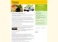 Website von Catering Bürgerhaus Lützschena Menü-Heim-Service