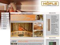 Website von Höfle Horst Schreinerei - Saunabau