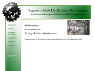Website von Ingenieurbüro Wiedemann