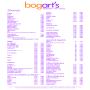 Bogart's - Getränkekarte