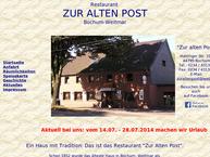 Website von Zur Alten Post