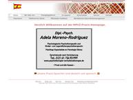Website von Psychotherapeutische Praxis Moreno-Rodriguez