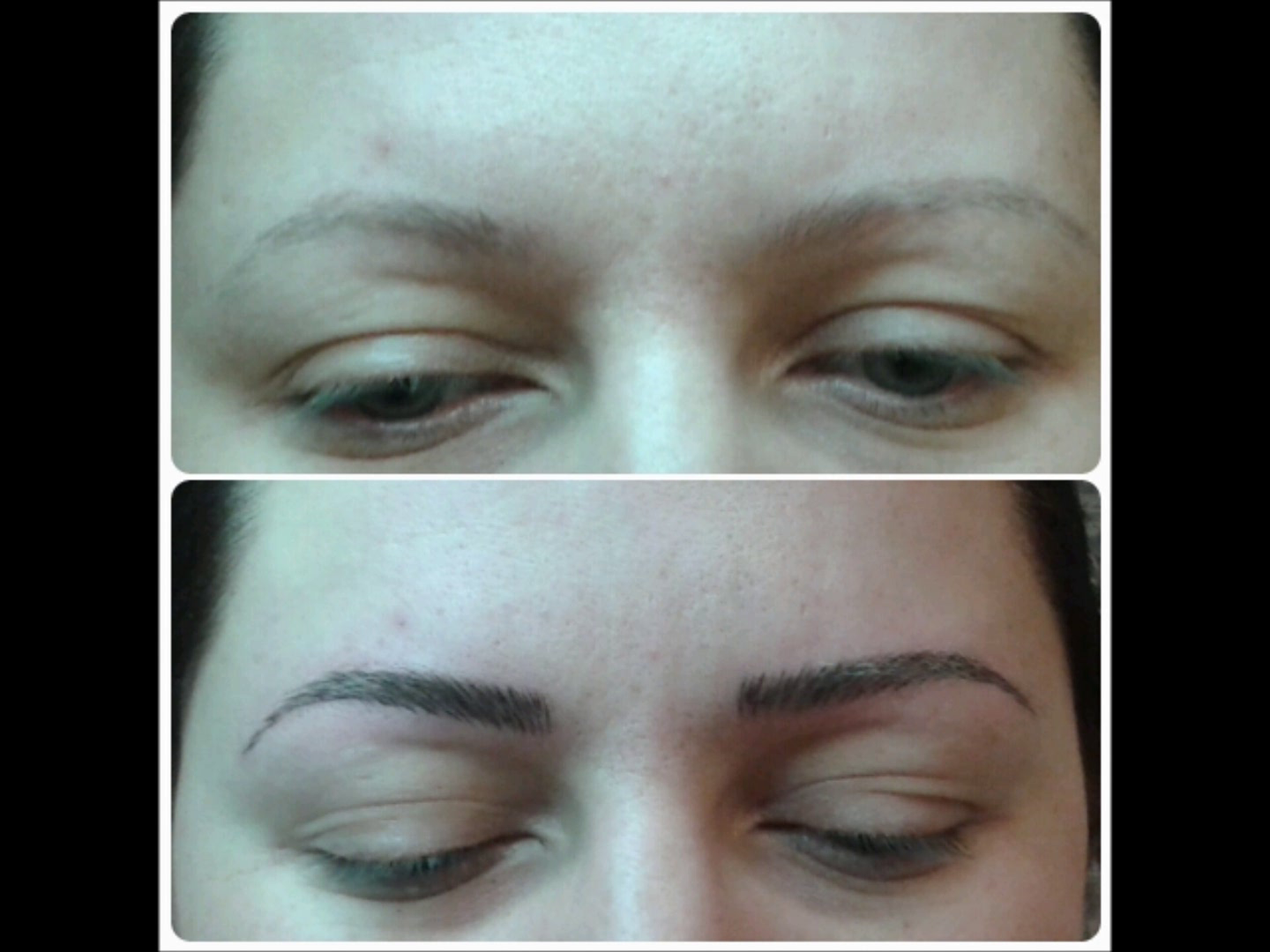 Permanent Make-up vorher-nachher