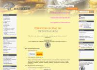 Website von GP Metallum - Münzen - Barren - Edelmetalle