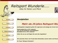 Website von Reitsport Wunderle