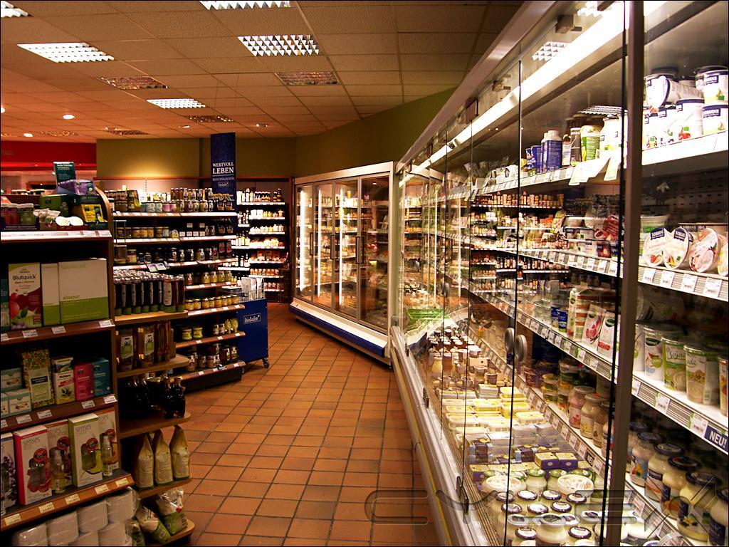 Guten Morgen Naturkostladen Einzelhandel Für Essen Und