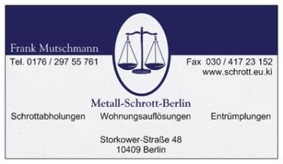 metall schrott berlin schrottabholung entsorgung verwertung beseitigung reinigung. Black Bedroom Furniture Sets. Home Design Ideas