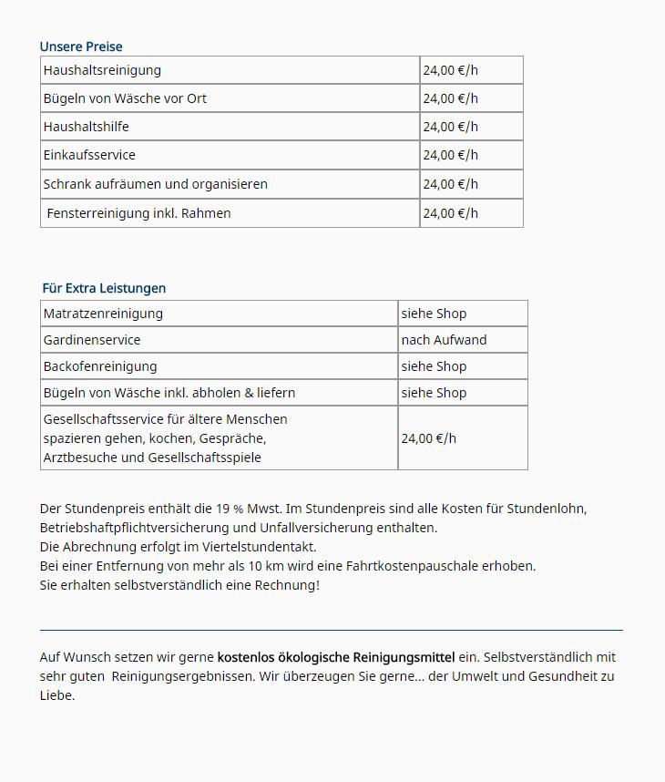 Hervorragend Schröder's Haushaltshilfen ▷ Gebäudereinigung in Gütersloh YL79