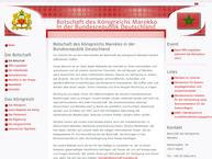 Website von Königlich Marokanische Botschaft