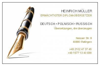 Dipl übersetzer Polnisch Deutsch Heinrich Müller