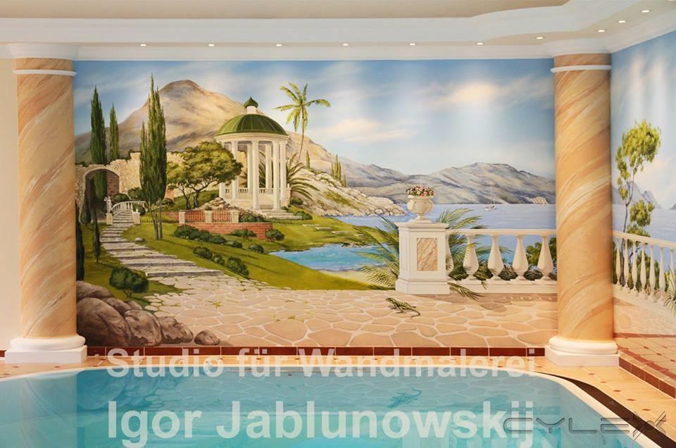 wandmalerei art studio von igor jablunowskij wandmalerei illusionsmalerei und raumgestaltung. Black Bedroom Furniture Sets. Home Design Ideas