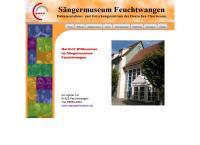Website von Sängermuseum Feuchtwangen