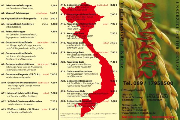 Reiskorn Vietnamesische Küche ▷ in München Laim ...