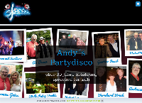 Website von Andy´s Party Disco