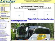 Website von Linder Reisen GmbH & Co. KG