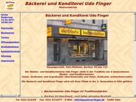 Website von Bäckerei Finger