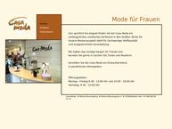 Website von Casa Moda