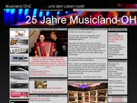 Website von Musicland - Ohz GbR