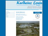 Website von Lewin GmbH, Karlheinz