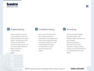 Website von Bautra GmbH