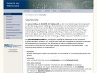 Website von Lehrstuhl Für Didaktik der Mathematik