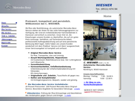 Website von C. Wiesner GmbH & Co. KG Mercedes-Benz