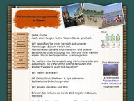 Website von Büsum-Vermietungen Ferienwohnungen  & Appartements