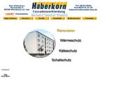 Website von Fassadenbau Haberkorn