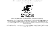 Website von Klett-Cotta Verlag J. G. Cotta'sche Buchhandlung Nachfolger GmbH