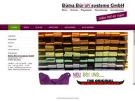 Website von BÜMA Bürosysteme GmbH