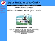 Website von Leier Heizungsbau GmbH