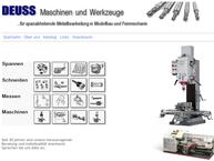 Website von Deuss Maschinen und Werkzeuge