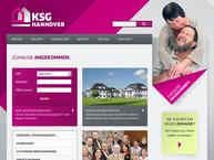 Website von KSG Kreissiedlungsgesellschaft Hannover mbH