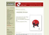 Website von MAGMA GMBH