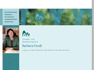 Website von Fendt Barbara Kosmetik, Med. Fußpflege
