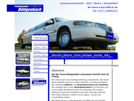 Website von Büttgenbach Limousinenservice