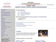 Website von Pontius Akademie für Persönlichkeitsentfaltung