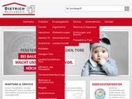 Website von Dietrich Bauelemente