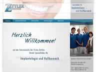 Website von Albert Zettler Zahntechnik GmbH