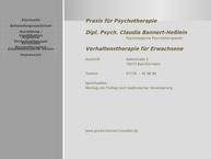 Website von Dipl.-Psych. Claudia Bannert-Heßlein