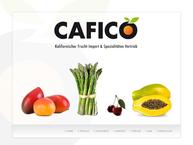 Website von Cafico Kalifornischer Frucht Import
