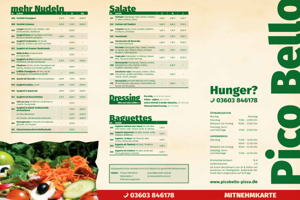 Orient Express Grossengottern Karte.Pizza Service Pico Bello In Bad Langensalza Thamsbruck