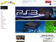 Website von Game World Computerspiele-Vertriebs GmbH