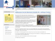 Website von Wäscherei Schwider KG