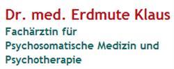 Dr. Med. Erdmute Klaus - Fachärztin Für Psychosomatische Medizin und Psychotherapie