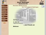 Website von Babinger Josef Schreinerei
