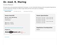 Website von Maring Ralf Dr. Med. Facharzt Für Innere Medizin U. Kardiologie