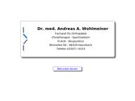 Website von Wohlmeiner Andreas Dr. Med. Facharzt Für Orthopädie