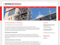 Website von Bindig Gerüstbau GmbH